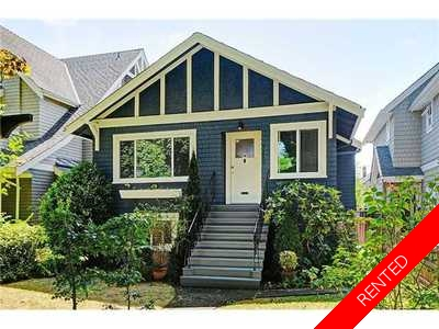 Kitsilano Character House for rent:  3 Bed & Den with 1 Bed Suite 1,800 sq.ft. (Listed 2013-11-13)