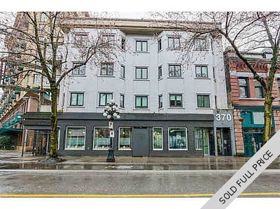Gastown Loft for sale: 21 Doors 1 bedroom 388 sq.ft. (Listed 2016-07-31)